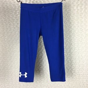 Under Armour Charged Blue Crop Legging Sz M